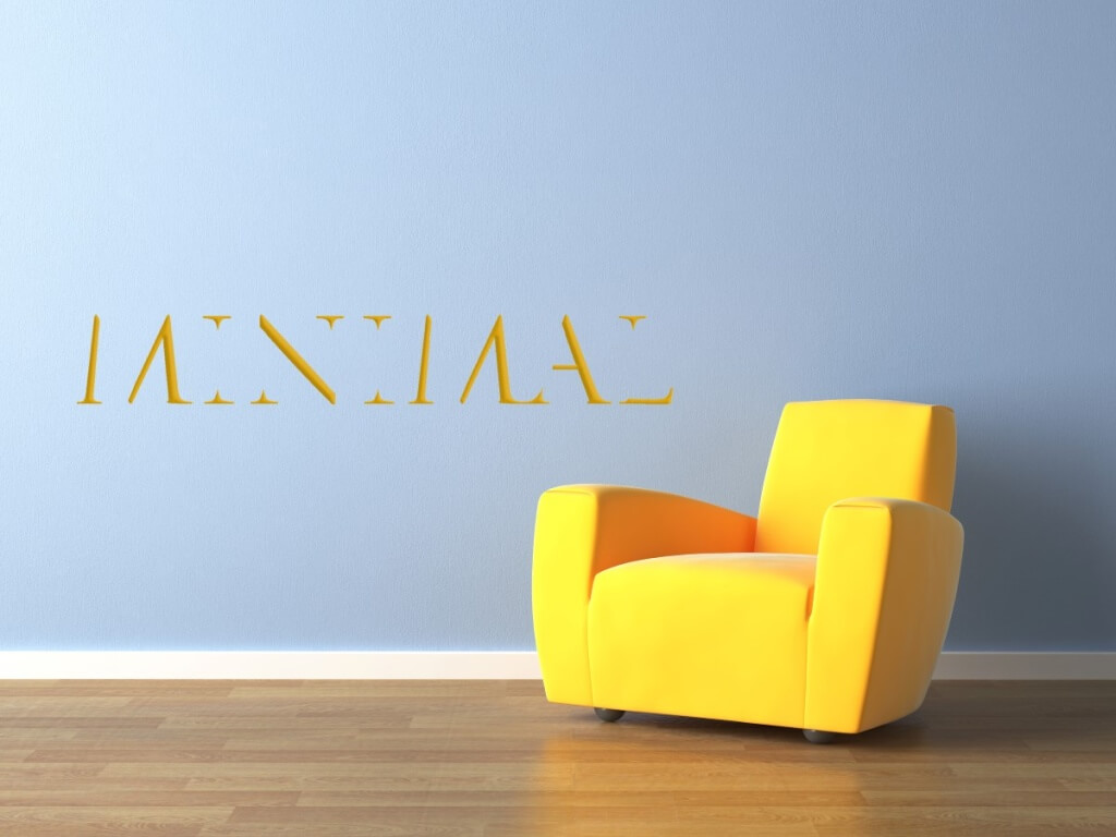 Achieve Minimalism in Residential Design Yellow Armchair On Blue Wall